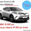 Nowa Toyota C-HR z rabatem 10 000 zł