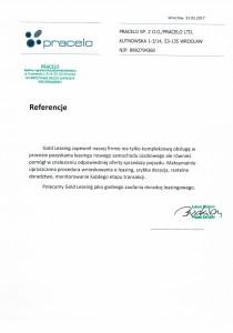 Pracelo Sp. z o.o. referencje